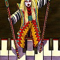 Kabuki Chopsticks 2 by Catherine G McElroy