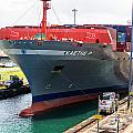 Kaethe P Container Ship Panama Canal by Rene Triay Photography