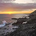 Kaena Point Sea Arch Sunset - Oahu Hawaii by Brian Harig