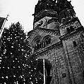 Kaiser Wilhelm Gedachtniskirche Memorial Church And Christmas Tree Berlin Germany by Joe Fox