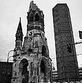 Kaiser Wilhelm Gedachtniskirche Memorial Church New Bell Tower And Christmas Market Berlin Germany by Joe Fox