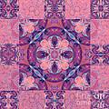 Kaleidoscope Art Peach by Lori Sulger