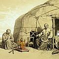 Kalmuks With A Prayer Wheel, Siberia by Francois Fortune Antoine Ferogio
