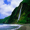 Kaluahine Waterfall Waipio Valley Hamakua Coast Hawaii by Dean Wittle