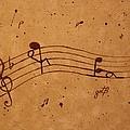 Kamasutra Abstract Music 2 Coffee Painting by Georgeta  Blanaru