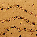 Kamasutra Music Coffee Painting by Georgeta  Blanaru