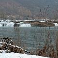 Kanawha Falls - Winter by Paulette B Wright