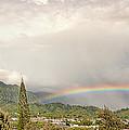 Kaneohe Rainbow Panorama by Dan McManus