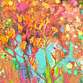 Kangaroo Flower In Spring Bubbles by Angela Stanton