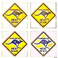 Kangaroos Road Sign Pop Art by HELGE Art Gallery