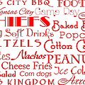Kansas City Chiefs Game Day Food 1 by Andee Design