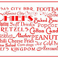 Kansas City Chiefs Game Day Food 3 by Andee Design