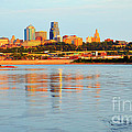 Kansas City Downtown From Kaw Point by Catherine Sherman