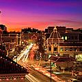 Kansas City Plaza Christmas Lights Skyline by Tommy Brison