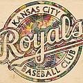 Kansas City Royals Logo Vintage by Florian Rodarte