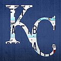 Kansas City Royals Recycled License Plate Art Baseball Logo by Design Turnpike