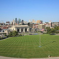 Kansas City Skyline And Park by Frank Romeo