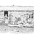 Kansas Early House, 1854 by Granger