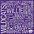 Kansas State College Colors Subway Art by Replay Photos