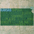 Kansas Word Art State Map On Canvas by Design Turnpike
