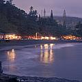 Kapueokahi - Hana Bay - Sunset Hana Maui Hawaii by Sharon Mau