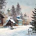 Kargopol. Onezhskaya Lane by Alexander Alexandrovsky