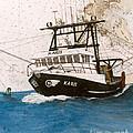 Karis Trawl Fishing Boat Nautical Chart Art by Cathy Peek