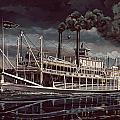 Spread Eagle Steamboat Night by Don  Langeneckert