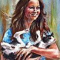 Kate Middleton Duchess Of Cambridge And Her Royal Baby Cat by Daniel Cristian Chiriac