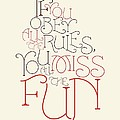 Katharine Hepburn Typographic Quotes Poster by Lab No 4 - The Quotography Department