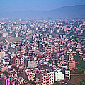 Kathmandu From The Airplane-nepal  by Ruth Hager