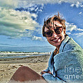 Katie And The Beach by Joan  Minchak