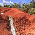 Kauai Red Dirt Waterfall by Ken Brown