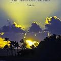 Kauai Sunset Psalm 36 5 by Debbie Karnes
