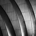 Kauffman Performing Arts Center Black And White by Stephanie Hollingsworth