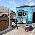 Kayak Rentals On The Municipal Wharf At Santa Cruz Beach Boardwalk California 5d23787 by Wingsdomain Art and Photography