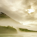 Kayaker And Marine Fog On The Alsek by Josh Miller Photography