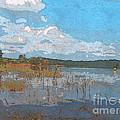 Kayaking At Lake Juliette by Donna Brown
