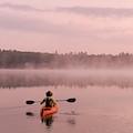 Kayaking On Starrett Lake At Sunrise by Christian Heeb