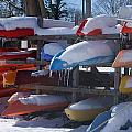 Kayaks And Icicles by Margie Avellino