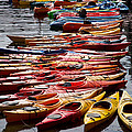 Kayaks At Rockport by Natalie Rotman Cote