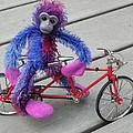 Toy Monkey On Toy Bike by Juanita  Albert