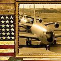 Kc-135 Stratotanker Rustic Flag by Reggie Saunders
