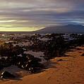Keawakupu Beach Lava Evening Light Maui Hawaii by John Burk