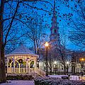 Keene Central Square At The Holidays by Susan Cole Kelly