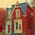 Keep A Light In The Window Til I Come Home Again Winter House Pointe St Charles City Scene Cspandau  by Carole Spandau