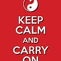Keep Calm Yinyang Red by Splendid Notion Series
