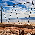 Keep Out No Playing Here Swing Set Playground by Scott Campbell