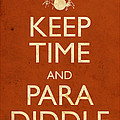 Keep Time And Paradiddle Poster by Tim Nyberg