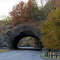 Kelly Drive Rock Tunnel In Autumn by Bill Cannon